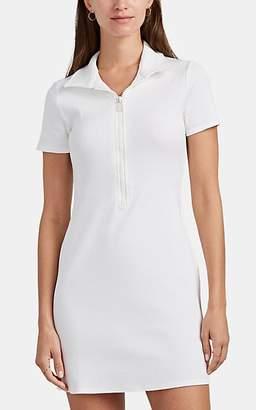 Solid & Striped Women's Cotton Rib-Knit Zip-Front Minidress - White