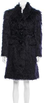 Marc Jacobs Mohair-Blend Knee-Length Coat w/ Tags