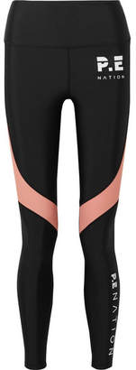 P.E Nation The Chasse Paneled Stretch Leggings - Black