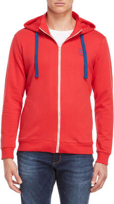 Gaudi' Gaudi Red Collared Zip Hoodie