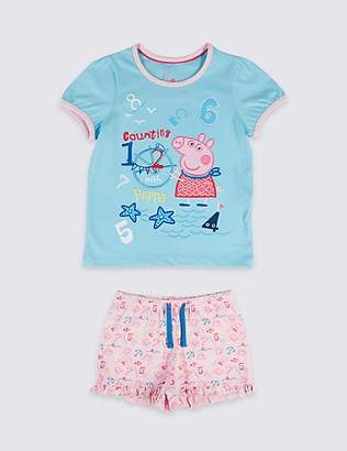 Marks and Spencer Peppa PigTM Pure Cotton Short Pyjamas (1-7 Years)