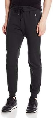 Brooklyn Athletics Men's Fleece Jogger Pants Active Zipper Pocket Sweatpants