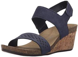 Rockport Women's Total Motion Taja Quarter Strap Deep Ocean Cas Suede (C)