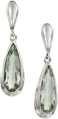 Hagit Sterling Elongated Gemstone Drop Earrings