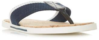 Dune Navy 'Iniesta' Toe Post Sandal