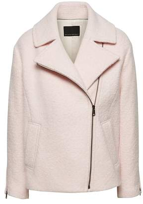 Banana Republic Petite Wool-Blend Cocoon Moto Jacket