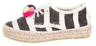 Loeffler Randall Striped Lace-Up Espadrilles