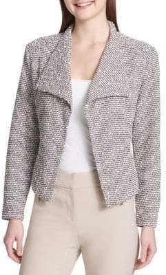 Calvin Klein Textured Fly Away Open-Front Jacket