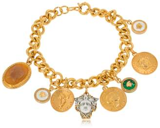 Versace Chain Necklace With Charms