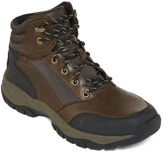 ST. JOHN'S BAY Mens Compass Hiking Boots Flat Heel Lace-up