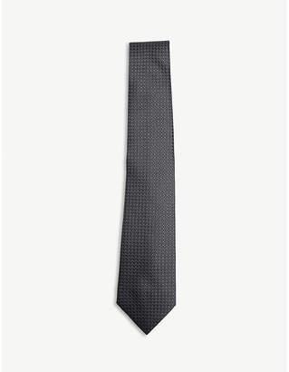 Lanvin Circle dot print silk tie