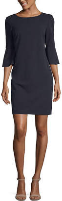 Liz Claiborne 3/4 Sleeve Shift Dress-Petite