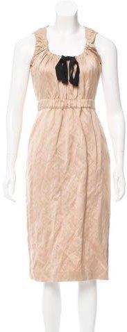 pradaPrada Bow-Accented Midi Dress