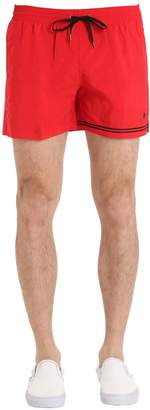 Nylon Swim Shorts With Stripe Detail