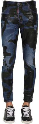 DSQUARED2 17cm Camo Tidy Biker Cotton Denim Jeans
