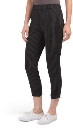Juniors Plaid Stripe Trouser Pants