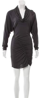 Yigal Azrouel Long Sleeve Cowl Neck Dress
