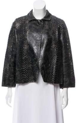 Ter Et Bantine Embossed Leather Jacket