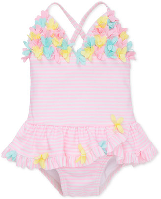 Little Me 1-Pc. Striped Skirted Swimsuit, Baby Girls (0-24 months) $29.50 thestylecure.com