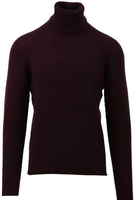 Roberto Collina Burgundy Turtleneck Sweater