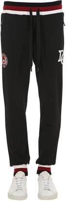 Dolce & Gabbana Logo Embroidered Jersey Sweatpants