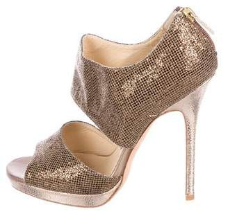 Jimmy Choo Glitter Metallic Sandals