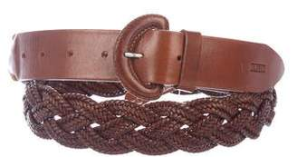Closed Leather Braided Belt w/ Tags