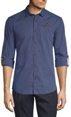 Scotch & Soda Printed Cotton Button-Down Shirt
