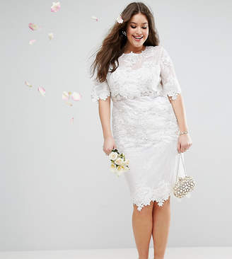 2a2790861a6 Asos EDITION Curve Lace Embroidered Midi Wedding Dress
