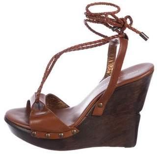 Diane von Furstenberg Leather Platform Wedges
