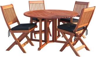 Corliving Miramar 5-Piece Outdoor Patio Folding Dining Set