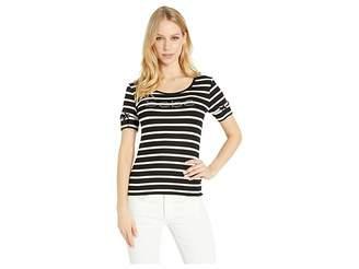 Bebe Grommet Sleeve Logo Tee Women's T Shirt