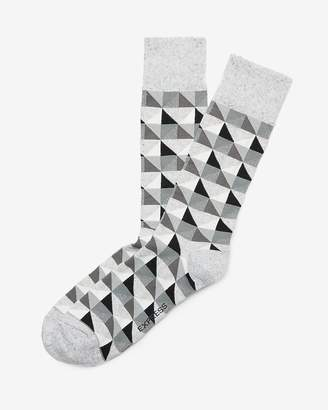 Express Geometric Dress Socks