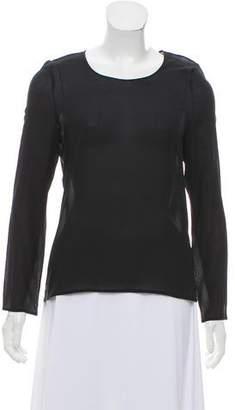 Calvin Klein Collection Silk Long Sleeve Top