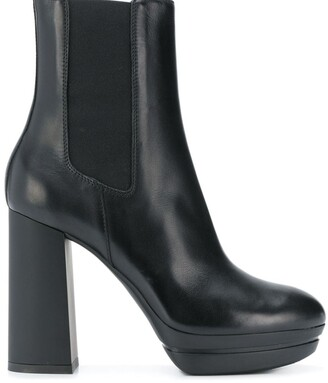 Hogan slip-on high heel boots