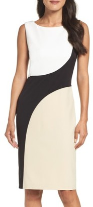 Women's Vince Camuto Colorblock Sheath Dress $128 thestylecure.com