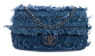 Chanel Denim Fringe CC Flap bag