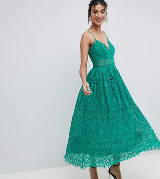 Asos Tall TALL Lace Cami Midi Prom Dress