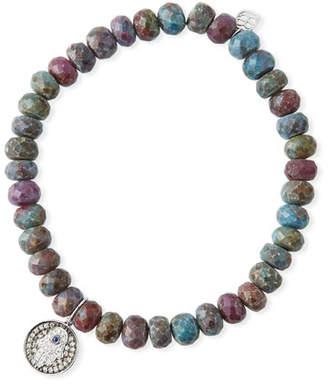 Sydney Evan Kyanite Quartz & Diamond Hamsa Bracelet