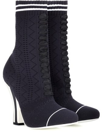 Fendi Stretch-knit ankle boots
