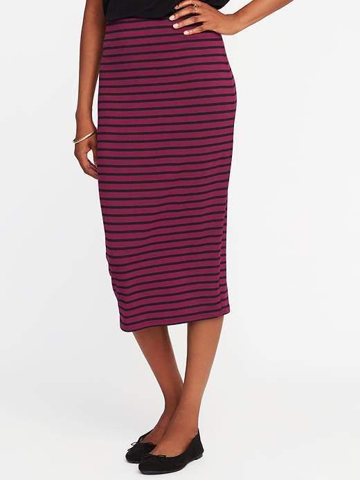 Jersey Pencil Midi Skirt for Women