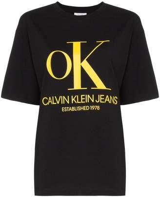 Calvin Klein Jeans Est. 1978 Ok logo cotton T-shirt