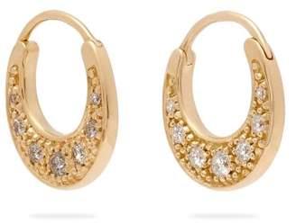 Jacquie Aiche Diamond & Gold Hoop Earrings - Womens - Gold