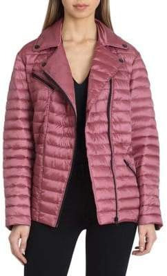 Badgley Mischka Asymmetric Puffer Jacket