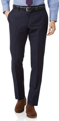 Charles Tyrwhitt Navy Slim Fit Jaspe Business Suit Wool Pants Size W32 L32