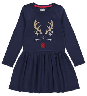 Bell George Navy Rudolph Embellished Christmas Dress