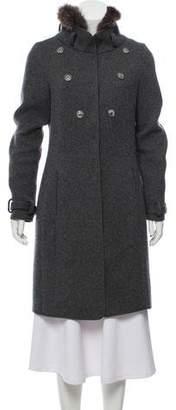 Brunello Cucinelli Fur-Accented Sweater Coat