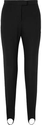 Burberry Stretch Cotton-blend Slim-leg Stirrup Pants - Black