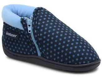 Isotoner Kids's Botillon Zip Suédine Slippers in Blue