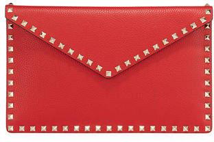 Valentino Garavani Rockstud Large Envelope Clutch Bag
